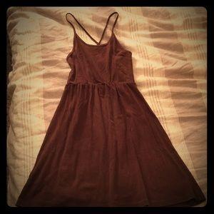 Brown American Apparel cotton summer dress